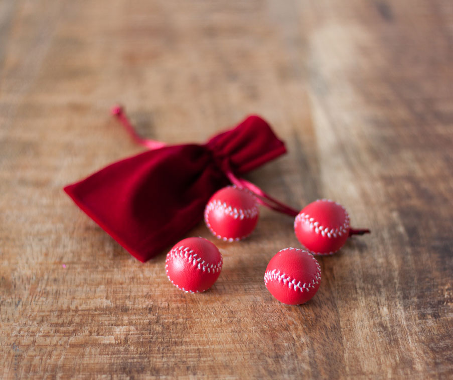 cups and balls red